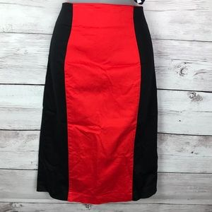 Worthington Hi waisted red and black skirt